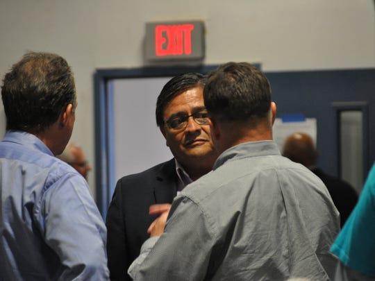 Carlsbad councilman Eddie Rodriguez on May 3 prior