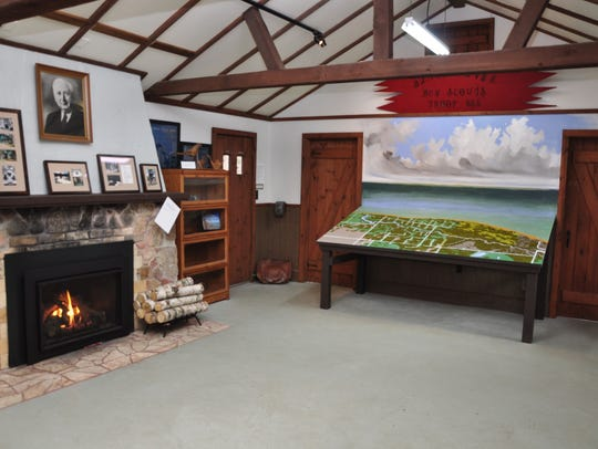 An interior view of the new facility showing the relief