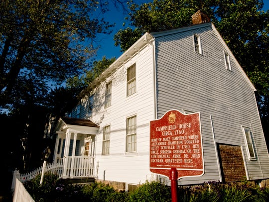 The Campfield House, home of Jabez Campfield, where