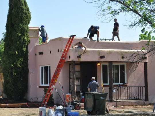 Christ the King Cathedral in Lubbock, Texas, is participating in Mission Carlsbad this year. Nine members, including youth, are working on a house in the 1000 block of Albert beginning Monday, June 4, 2018. The house is owned by Carlsbad Transitional Housing & Homeless Shelter.