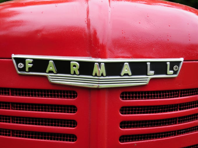 A red Farmall shines brightly at the Lexington A&W