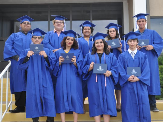 Nine graduates attended and participated in Carlsbad High School's summer commencement Thursday, June 21, 2018, at the school's small theater. A total of 13 seniors graduated after completing summer classes.