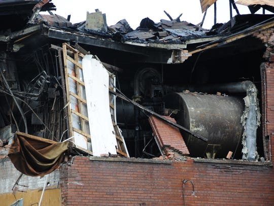Some of the damage from a fire at the former Chicory