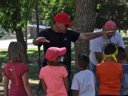 Camp Corazon Alan Wood works with you campers at camp Saturday, June 23, 2018, at Washington Ranch.