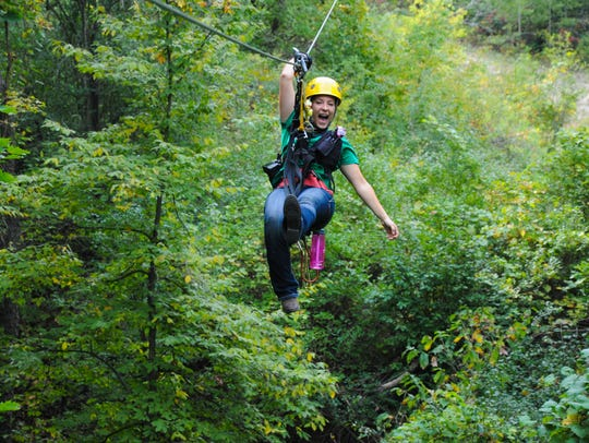 The Lake Geneva canopy tours allow people to soar through