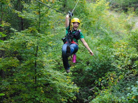 The Lake Geneva canopy tours allow people to soar through the trees for two hours at a time.