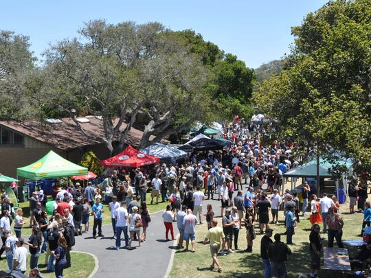 Crowds gather at a recent Monterey Beer Festival.