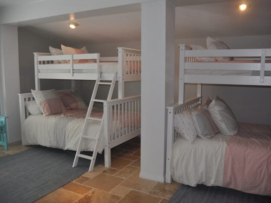 The bunk room was created for the owner's daughter who liked to bring lots of friends to the island with her.