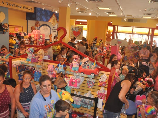 Thousands of people waited hours in line at the Build-a-Bear