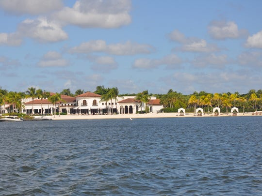 Miromar Lakes Beach & Golf Club has two huge interconnecting lakes that lead to the beach, clubhouse and docks.