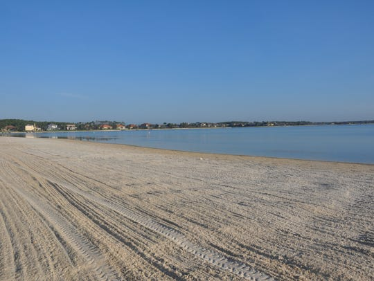 The Quarry in North Naples has wide sand beaches that lead to the lake.