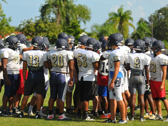 Eau Gallie Football practice
