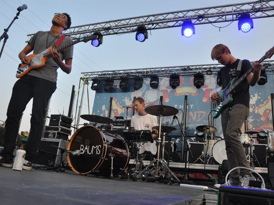 Rock band Tenenbaums perform at the That Sounds Decent concert in downtown Sioux Falls during the summer of 2018.