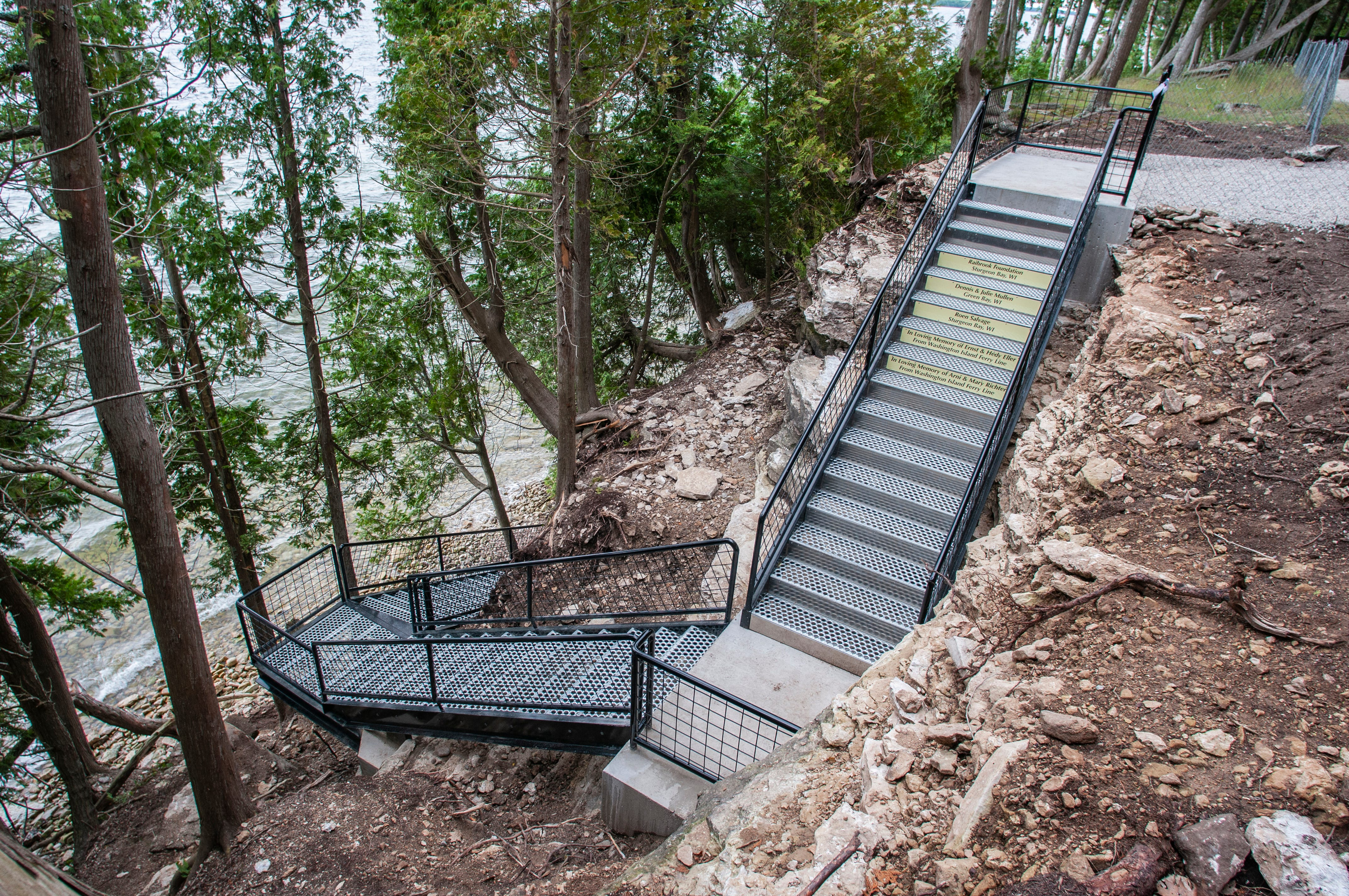 The New Porte Des Morts Town Park Stairs Provide Visitors With Safe Access  To The Beach