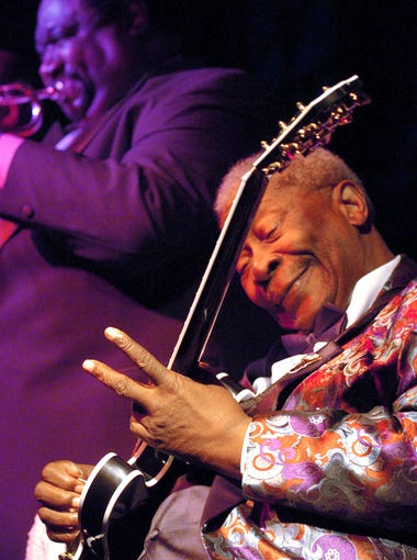 October 2, 2005 - B.B. King performs to a standing room only crowd at his club on Beale Street Sunday evening. King turned 80 last month and the celebrations haven't stopped.