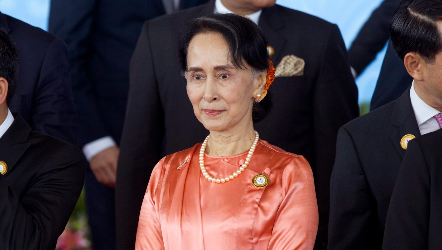 Aung San Suu Kyi blames world conflicts on illegal immigration