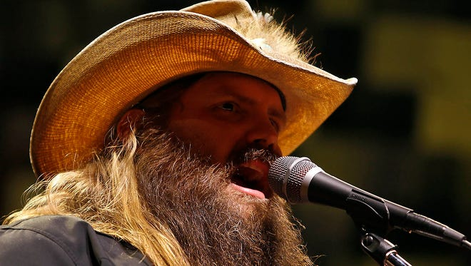 Chris Stapleton performs at Ak-Chin Pavilion in Phoenix on Friday, May 19, 2017.
