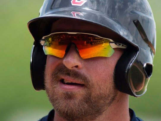 Evansville's John Schultz heads to the plate to pinch-hit