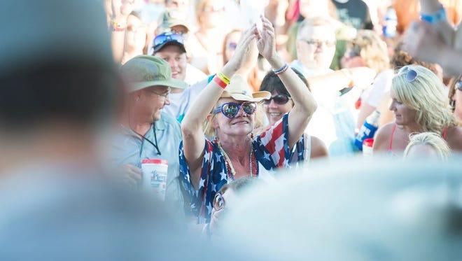 Fans enjoy Freedom Fest in Pierz in July 2016.