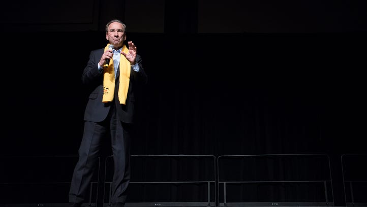 Bill Canary speaks during an annual rally in support