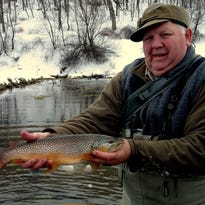 Tim Noll with a nice trout. The new trout season looks a lot like the old ones.