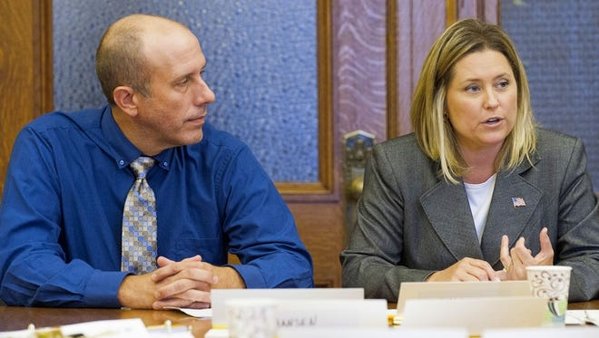 Shane Blaser, owner of Blasers in Wisconsin Rapids, joined State Senator Julie Lassa (D-Stevens Point) on Sept. 2 to testify before the Senate Committee on Agriculture, Small Business and Tourism. The committee heard a bill that would help Blasers expand it special event offerings.