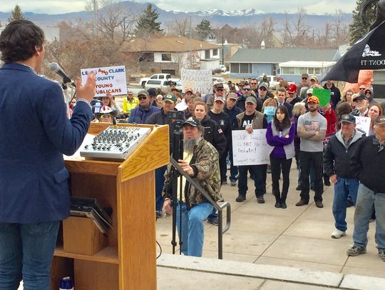 Nearly 150 people attended the March for our Guns rally