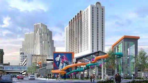 Renderings from the Eldorado Casino Resort's water park special use permit.