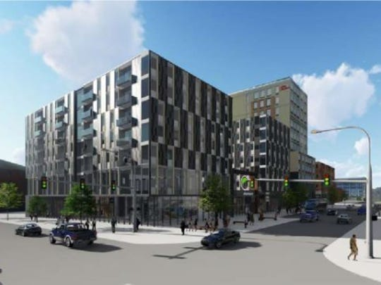 A rendering of the proposed Hieronymus Square project