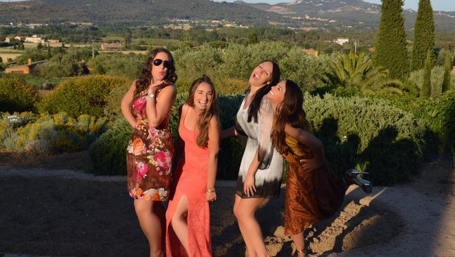 Christine Coppa and her friends in Costa Brava, Spain, where their friend was getting married.