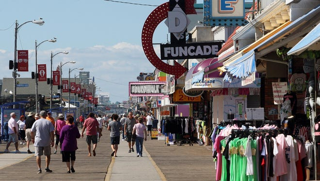 The boardwalk in Wildwood.