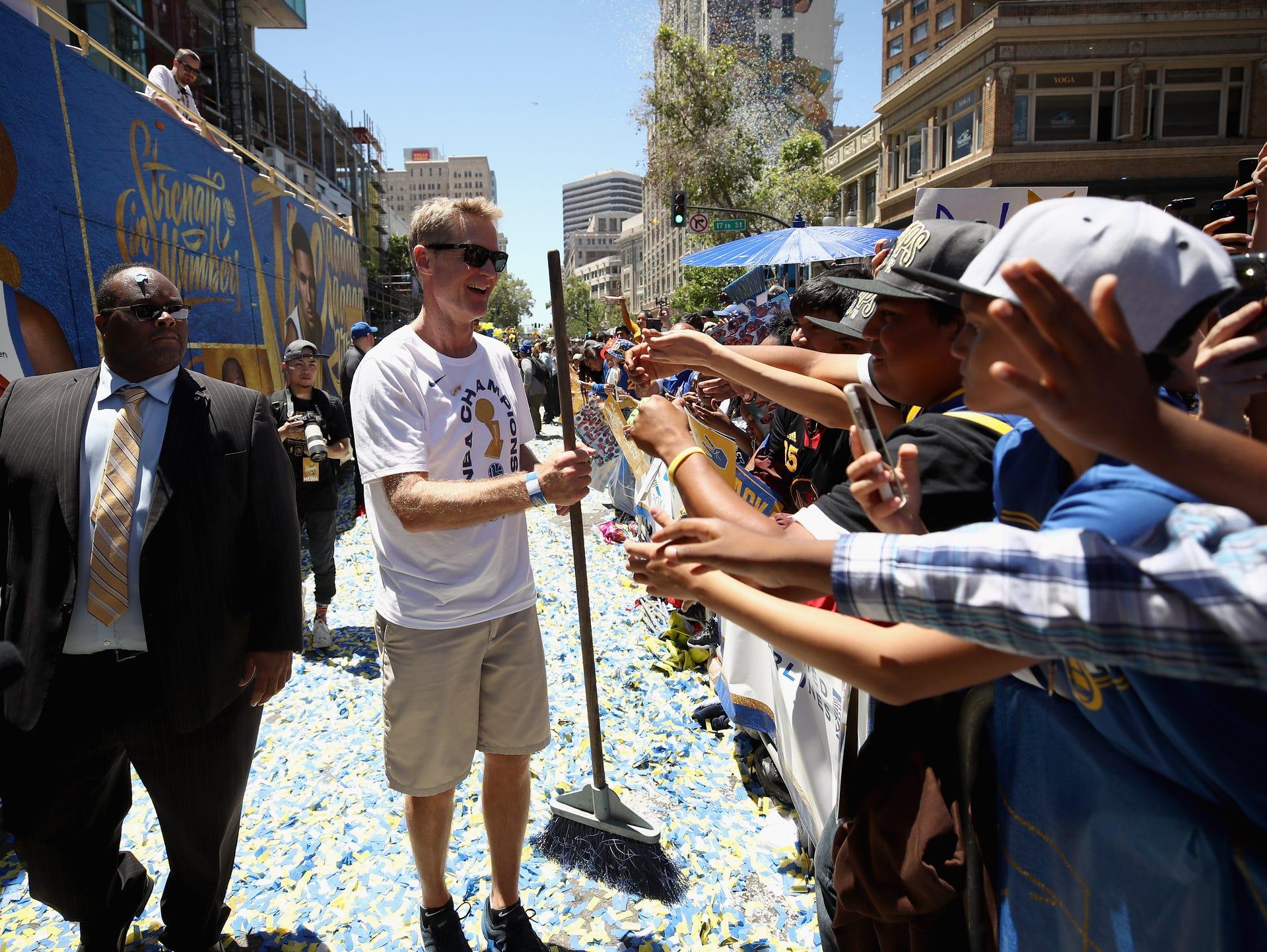 Head coach Steve Kerr of the Golden State Warriors