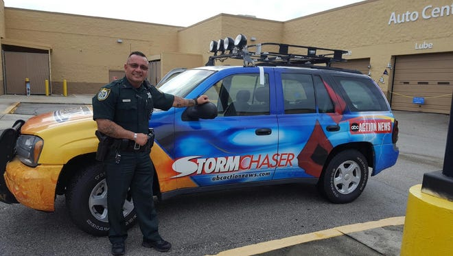Deputy Cliff Labbe, once an incident commander at the Sandy Hook Elementary tragedy, weathered his first Florida hurricane