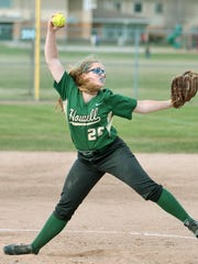 Howell pitcher Elaina McClellan is part of a senior
