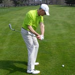 Creating lag in the downswing, seen here, will improve ball striking