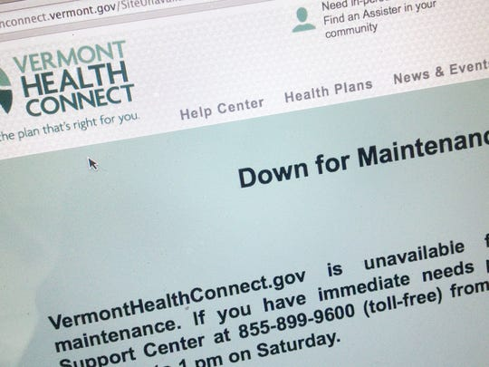 The Vermont Health Connect site on Sept. 16, 2014. A new audit says errors and backlogs continue to plague the Vermont system.