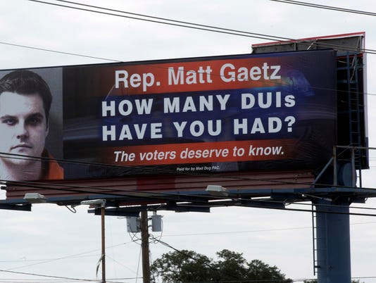 Matt Gaetz DUI Billboard