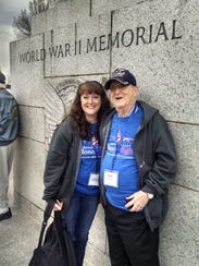 Poughkeepsie resident Audrey Grogan and her father,