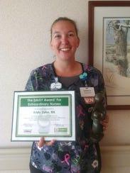 Registered Nurse Kristy Zahn was recently presented