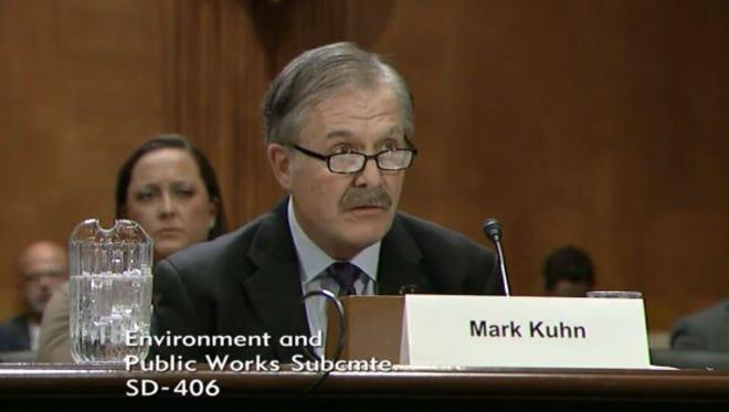 Iowa farmer Mark Kuhn testified at a U.S. Senate hearing on March 8.