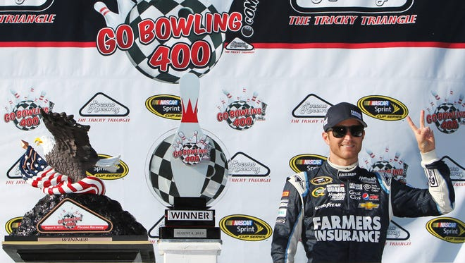 Kasey Kahne's last win came at the 2013 GoBowling.com 400 at Pocono Raceway last August.