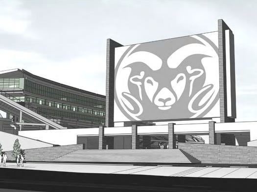 Artist renderings of the proposed CSU on-campus stadium released May 7, 2014.
