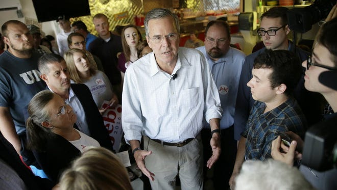 Republican presidential candidate Jeb Bush in Cedar Falls, Iowa, on Sept. 22, 2015.