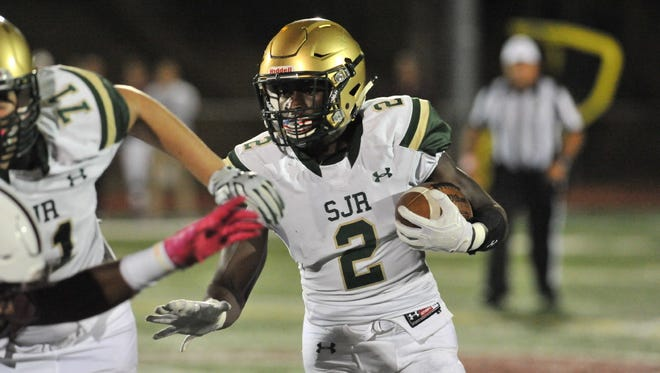 Louis Acceus and St. Joseph are one win away from earning the Non-Public Group 3 championship. The Green Knights have been improving each week, but they're hoping their best is still to come.