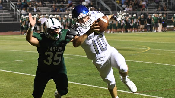 NV/Demarest QB Austin Albericci threw for 227 yards and two touchdowns in the Norsemen's win over Paramus.