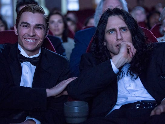"Dave Franco (left) and James Franco star in ""The Disaster Artist."""