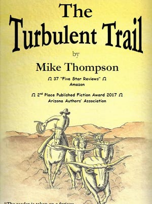 "This is the cover of the new paperback edition of Mike Thompson's ""The Turbulent Trail."""