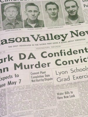 Mason Valley News page.