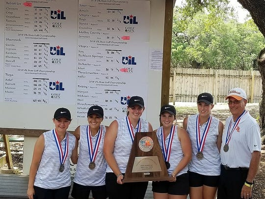 The Robert Lee girls golf team finished second in Class 1A at the 2018 UIL State Golf Tournament May 21-22 in Austin, Texas.