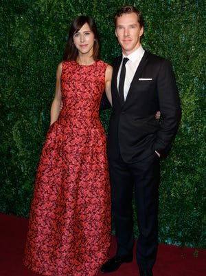 Mr. and Mrs. Cumberbatch: The Oscar nominee married Sophie Hunter Saturday on the Isle of Wight.